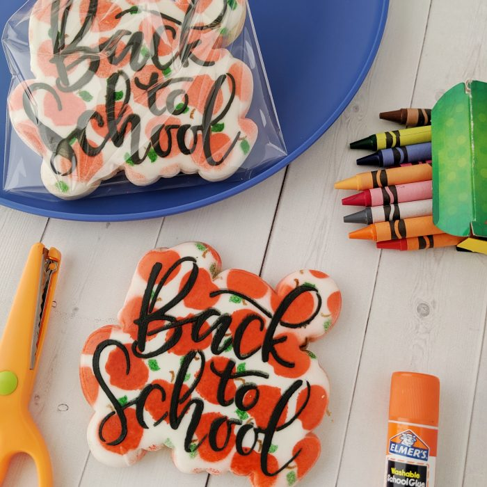 Back to School Plaque Cookies